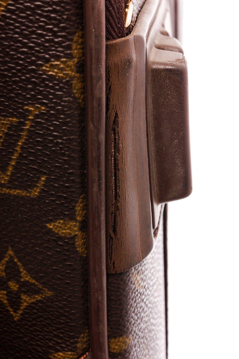 Louis Vuitton Monogram Canvas Leather Pegase 55 cm Luggage For Sale 3