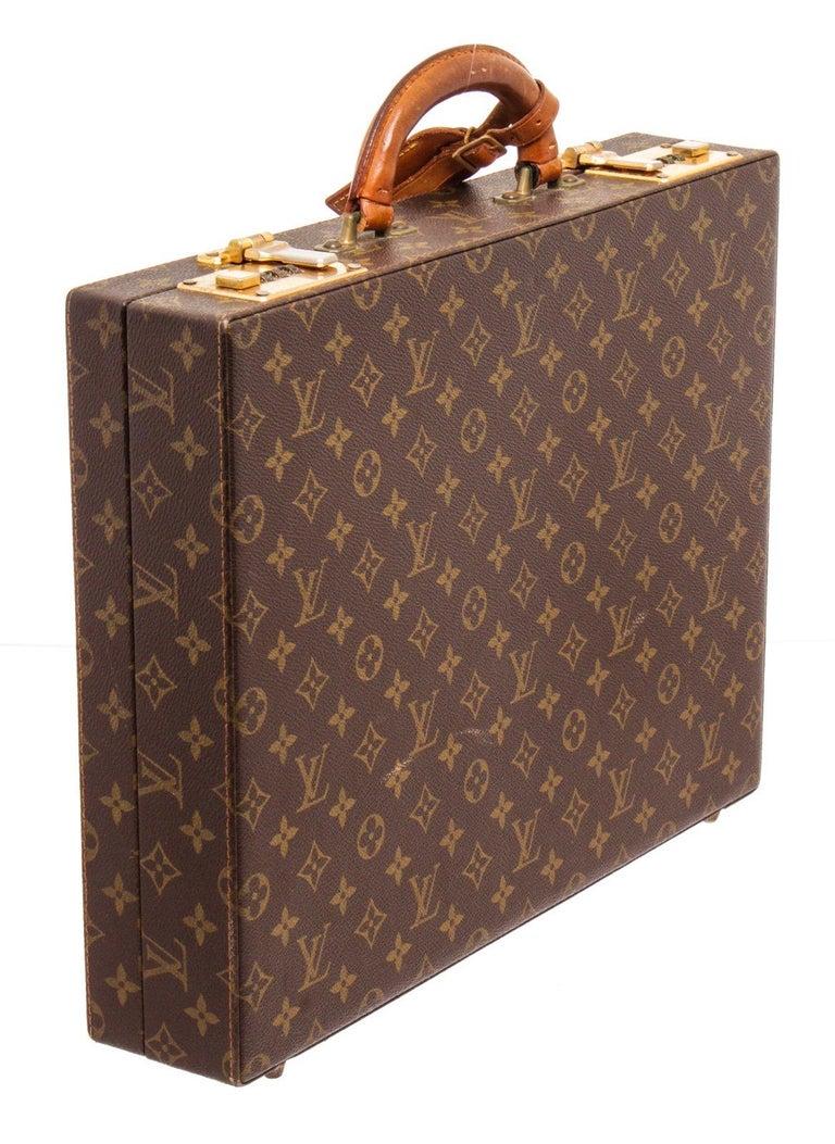 Louis Vuitton Monogram Canvas Leather President Briefcase For Sale 1