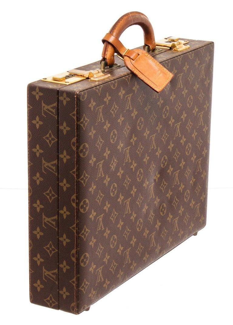 Louis Vuitton Monogram Canvas Leather President Briefcase For Sale 2