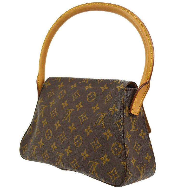 Louis Vuitton Monogram Canvas Leather Small Top Handle Satchel Carryall Flap Bag In Good Condition For Sale In Chicago, IL