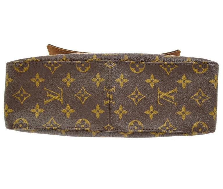 Women's Louis Vuitton Monogram Canvas Leather Small Top Handle Satchel Carryall Flap Bag For Sale