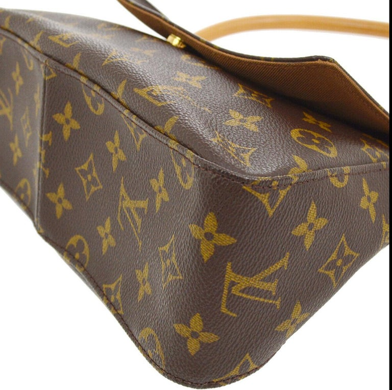 Louis Vuitton Monogram Canvas Leather Small Top Handle Satchel Carryall Flap Bag For Sale 1