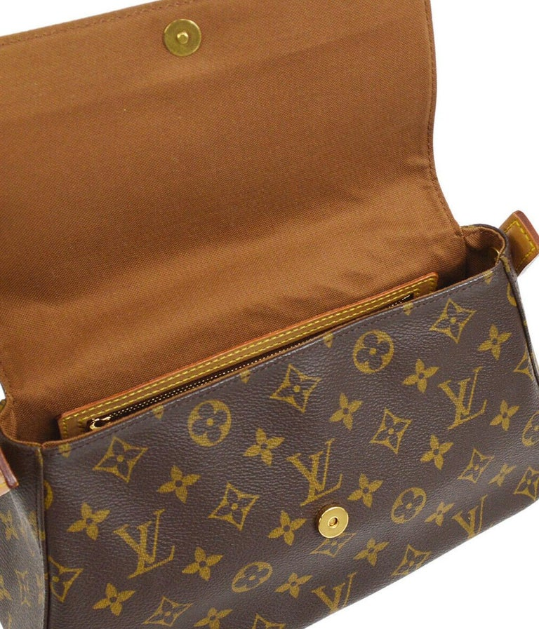 Louis Vuitton Monogram Canvas Leather Small Top Handle Satchel Carryall Flap Bag For Sale 2