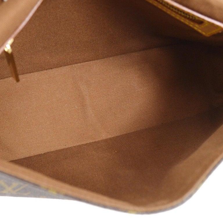 Louis Vuitton Monogram Canvas Leather Small Top Handle Satchel Carryall Flap Bag For Sale 3