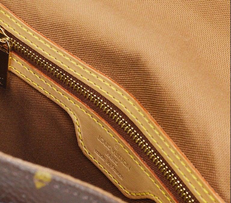 Louis Vuitton Monogram Canvas Leather Small Top Handle Satchel Carryall Flap Bag For Sale 4
