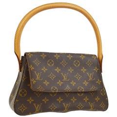 Louis Vuitton Monogram Canvas Leather Small Top Handle Satchel Carryall Flap Bag