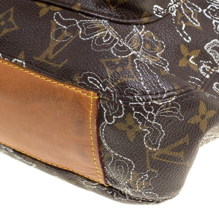 Louis Vuitton Monogram Canvas Limited Edition Dentelle Fersen GM Bag For Sale 7