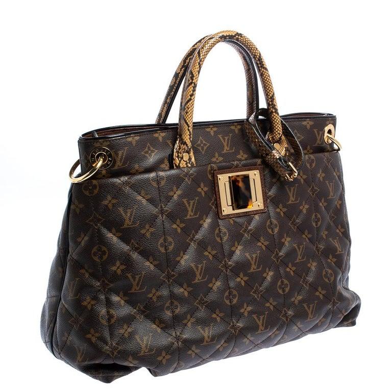 Black Louis Vuitton Monogram Canvas Limited Edition Etoile Exotique GM Bag For Sale