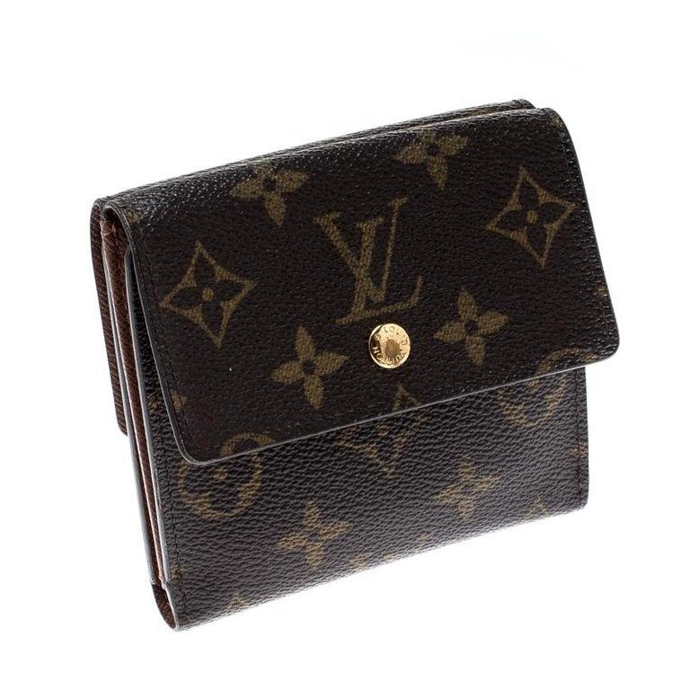 Black Louis Vuitton Monogram Canvas Ludlow Wallet For Sale