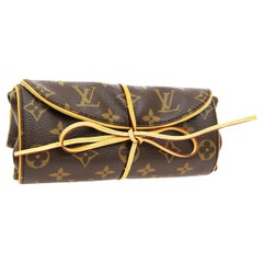 Louis Vuitton Monogram Canvas Men's Women's Travel Jewelry Storage Roll