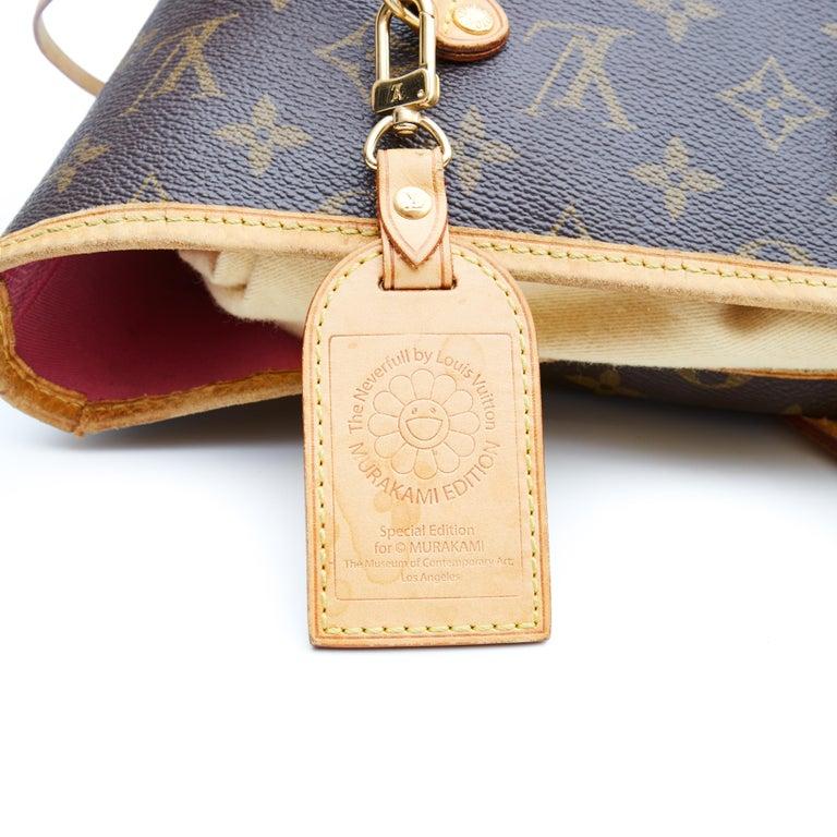 Women's Louis Vuitton Monogram Canvas Neverfull GM Murakami MOCA Hands Bag 2008 For Sale