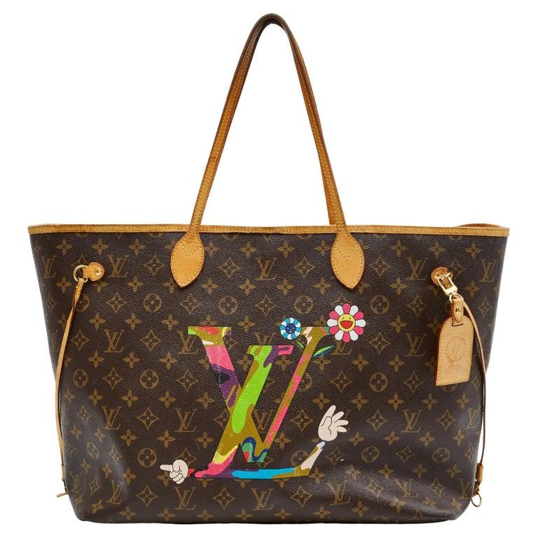 Louis Vuitton Monogram Canvas Neverfull GM Murakami MOCA Hands Bag 2008 For Sale