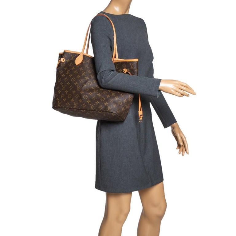 Black Louis Vuitton Monogram Canvas Neverfull MM Bag
