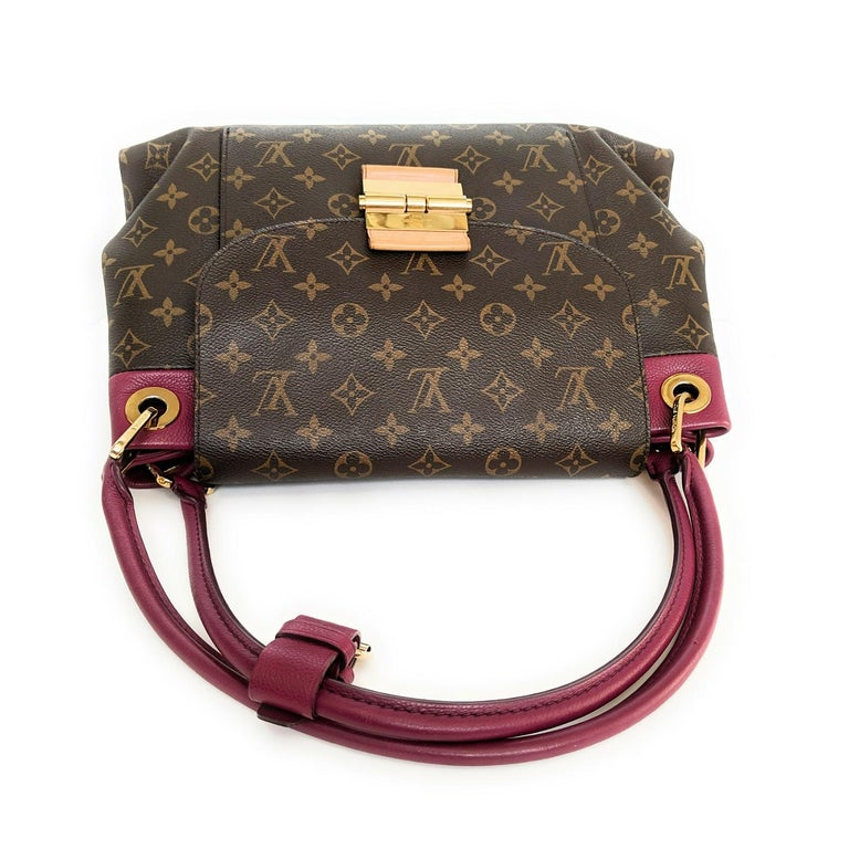 Louis Vuitton Monogram Canvas Olympe MM Tote In Excellent Condition For Sale In Scottsdale, AZ