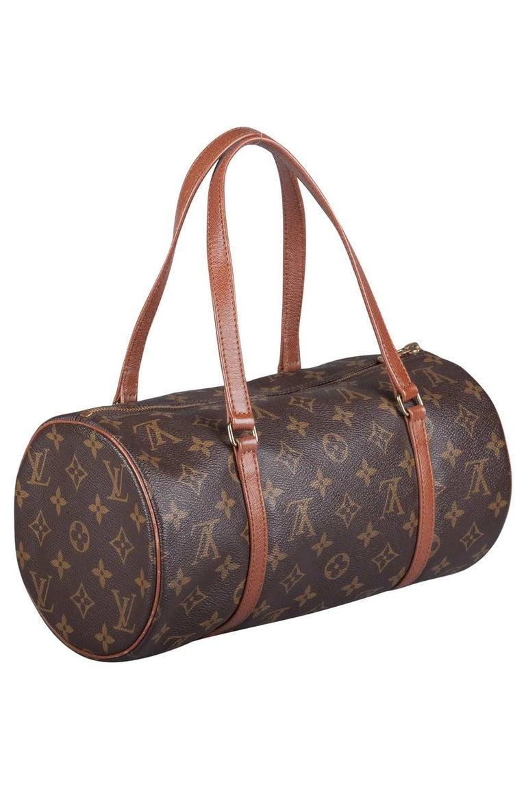 Black Louis Vuitton Monogram Canvas Papillon Bag For Sale