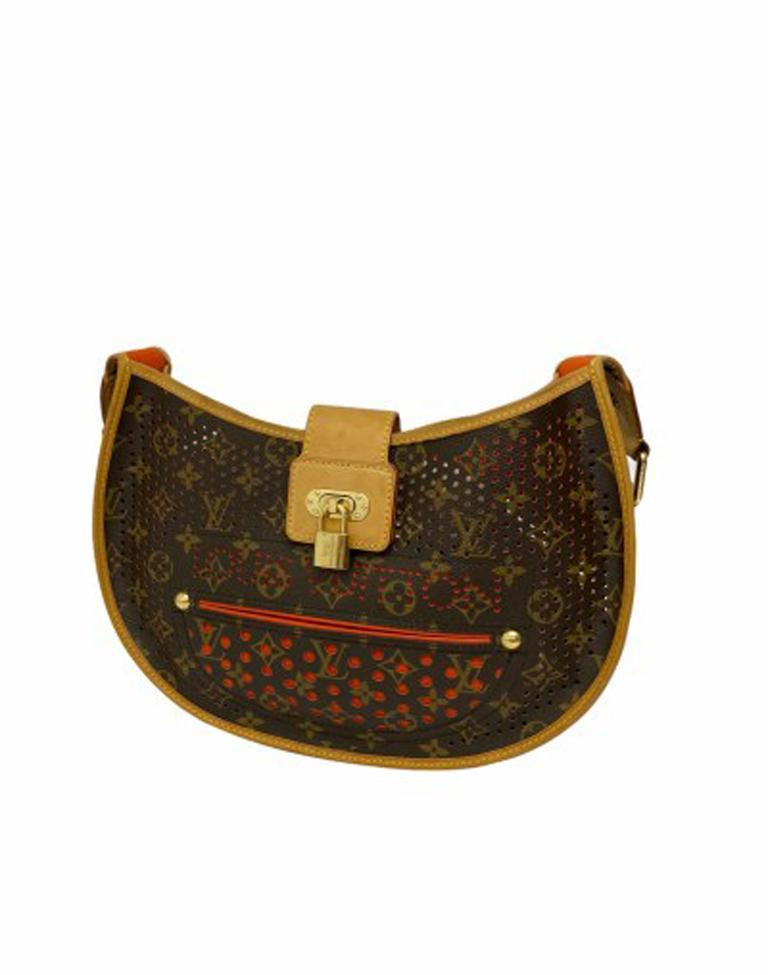 Women's Louis Vuitton Monogram Canvas Perforated Shoulder Bag  For Sale