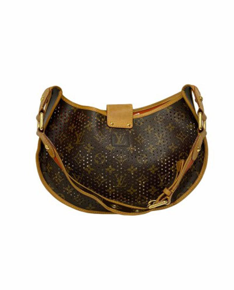 Louis Vuitton Monogram Canvas Perforated Shoulder Bag  For Sale 1