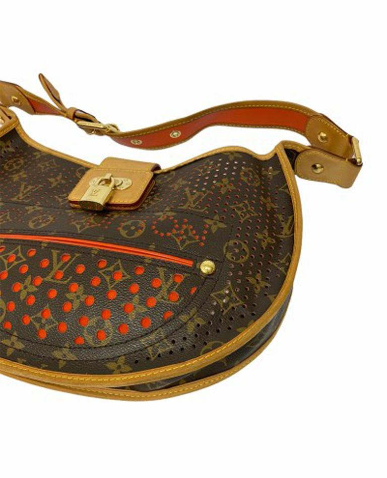 Louis Vuitton Monogram Canvas Perforated Shoulder Bag  For Sale 3