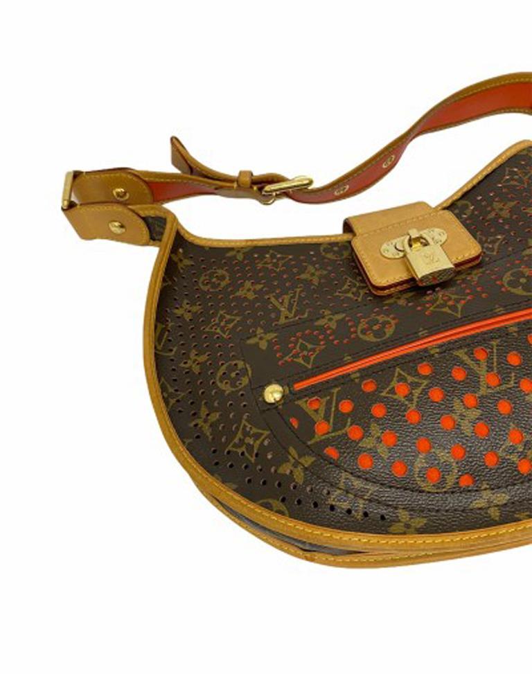 Louis Vuitton Monogram Canvas Perforated Shoulder Bag  For Sale 4