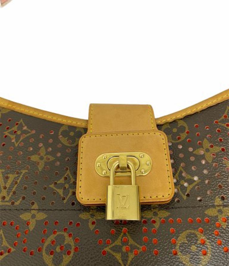 Louis Vuitton Monogram Canvas Perforated Shoulder Bag  For Sale 5