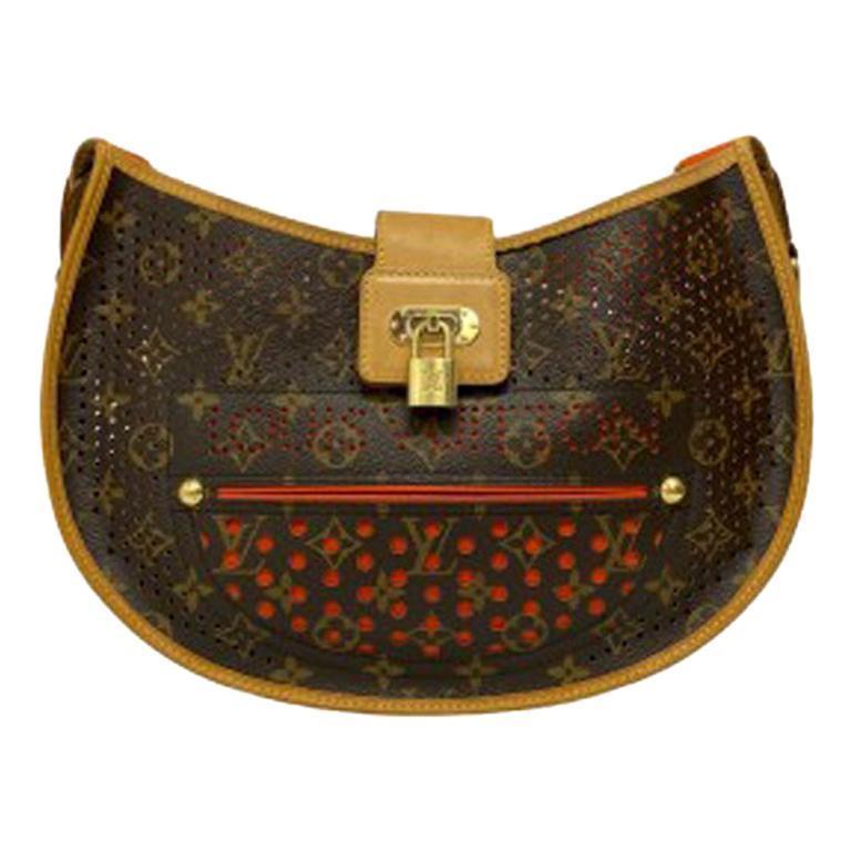 Louis Vuitton Monogram Canvas Perforated Shoulder Bag  For Sale