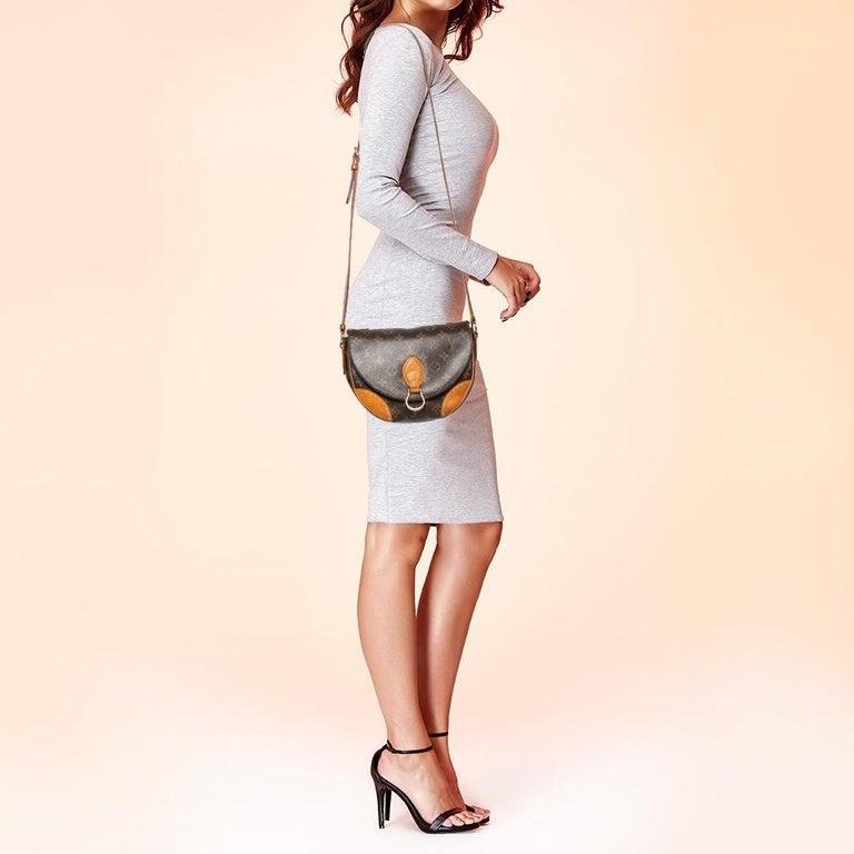 Black Louis Vuitton Monogram Canvas Saint Cloud Bag For Sale