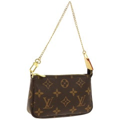 Louis Vuitton Monogram Canvas Small Mini Evening Clutch Pochette Shoulder Bag