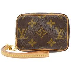 Louis Vuitton Monogram Canvas Small Mini Evening Clutch Wristlet Pochette Bag
