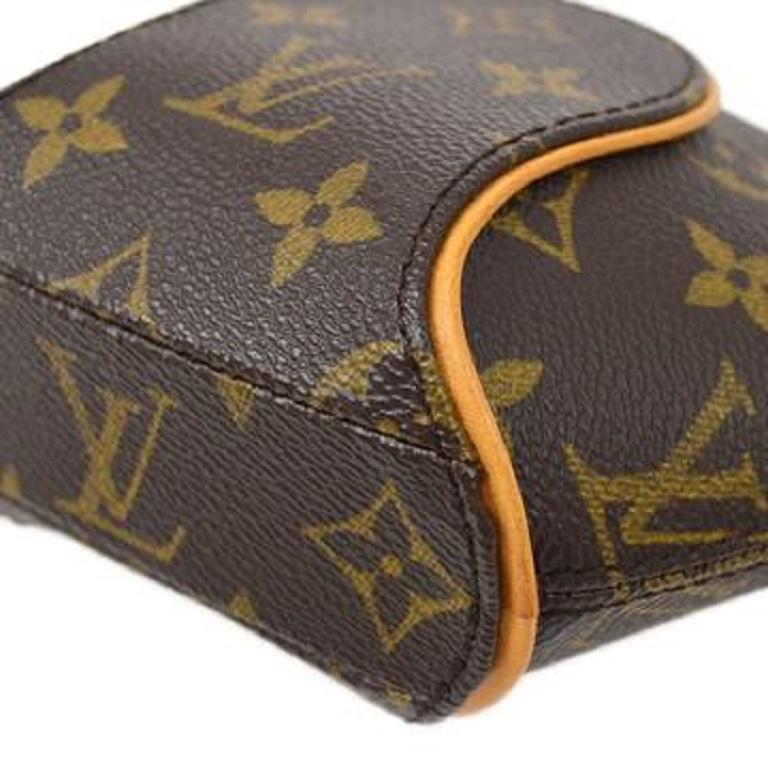 Louis Vuitton Monogram Canvas Small Mini Wristlet Evening Pochette Clutch Bag In Good Condition For Sale In Chicago, IL