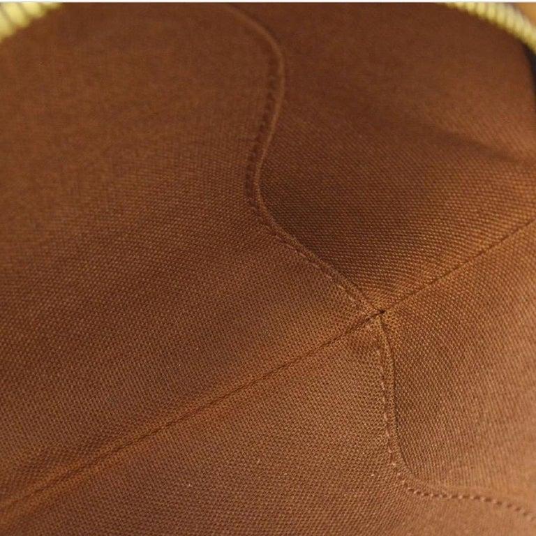 Women's Louis Vuitton Monogram Canvas Small Mini Wristlet Evening Pochette Clutch Bag For Sale