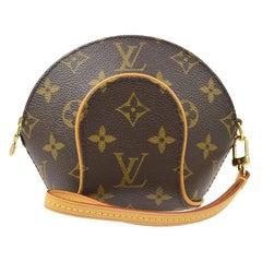 Louis Vuitton Monogram Canvas Small Mini Wristlet Evening Pochette Clutch Bag