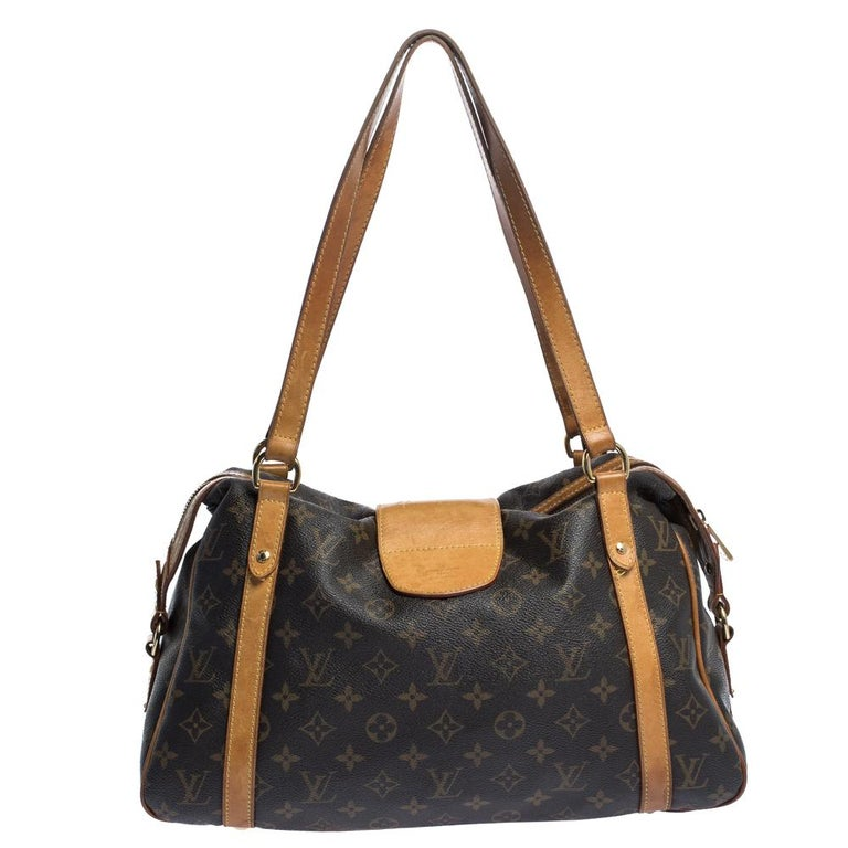 Owning this Louis Vuitton handbag is a mark of style and sophistication. Be it any occasion, this Stresa PM bag will work with all your ensembles. Crafted in France from the brand's signature Monogram canvas in brown, this bag is the perfect