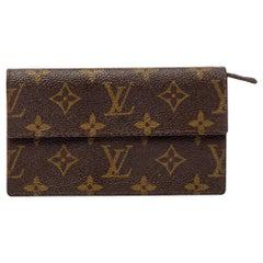 Louis Vuitton Monogram Canvas Vintage Flap Wallet