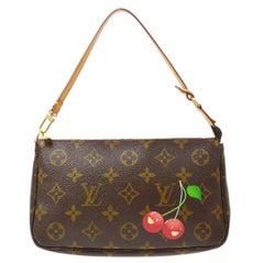 Louis Vuitton Monogram Cherry Small Evening Top Handle Shoulder Pochette Bag