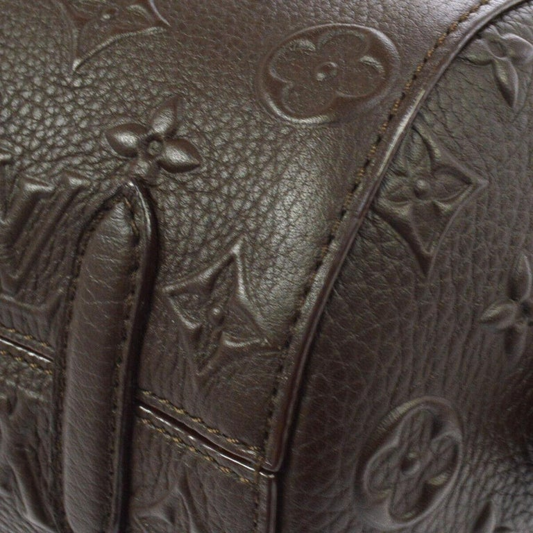 Louis Vuitton Monogram Choc Brown Leather Top Handle Satchel Shoulder Bag For Sale 1