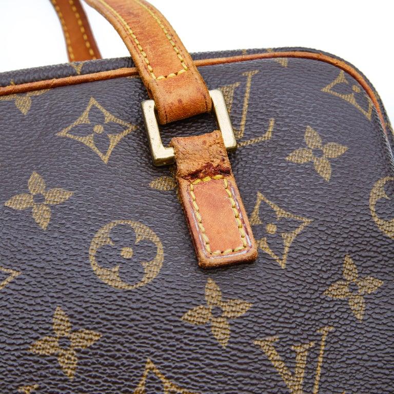 Brown Louis Vuitton Monogram Cite Shoulder Bag (2002) For Sale