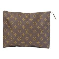 "Louis Vuitton Monogram Clutch ""Saks Fifth Avenue"" Zippered Pouch"