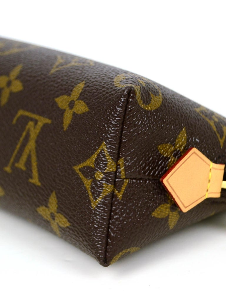 Black Louis Vuitton Monogram Coated Canvas Cosmetic Pouch Bag For Sale