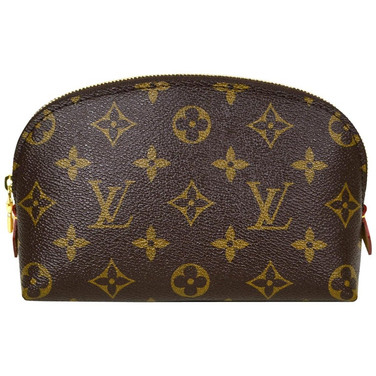 Louis Vuitton Monogram Coated Canvas Cosmetic Pouch Bag For Sale