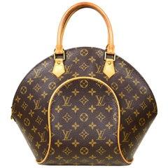 Louis Vuitton Monogram Coated Canvas Ellipse MM Top Handle Bag