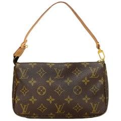 Louis Vuitton Monogram Coated Canvas Pochette Bag