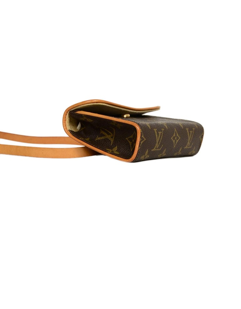 Louis Vuitton Monogram Coated Canvas Pochette Florentine Belt Bag In Good Condition In New York, NY