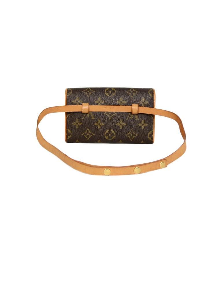 Brown Louis Vuitton Monogram Coated Canvas Pochette Florentine Belt Bag