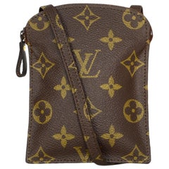 Louis Vuitton Monogram Coated Canvas Pochette Secret Passport Holder