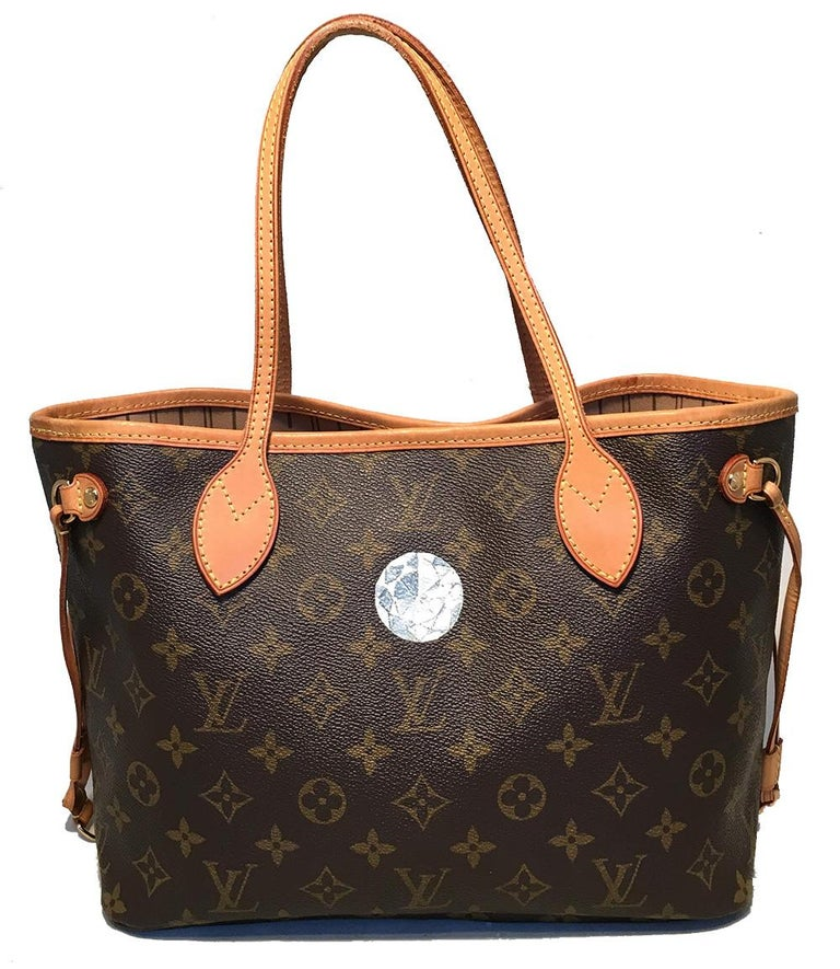 Black Louis Vuitton Monogram Customized Hand Painted Jewels Neverfull PM Shoulder Bag For Sale