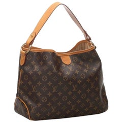 LOUIS VUITTON Monogram Delightful PM Brown Tote, Hobo Bag