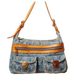 Louis Vuitton Monogram Denim Baggy PM shoulder purse Bag