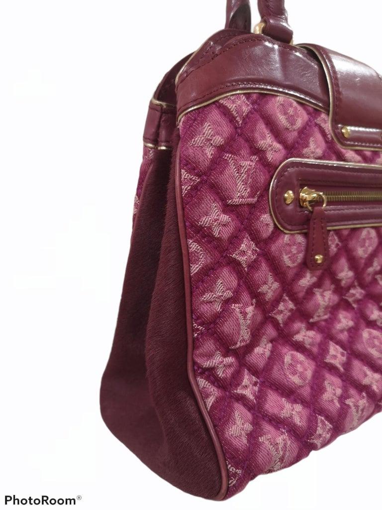 Louis Vuitton monogram denim fuchsia Linda Limited edizion bag For Sale 6