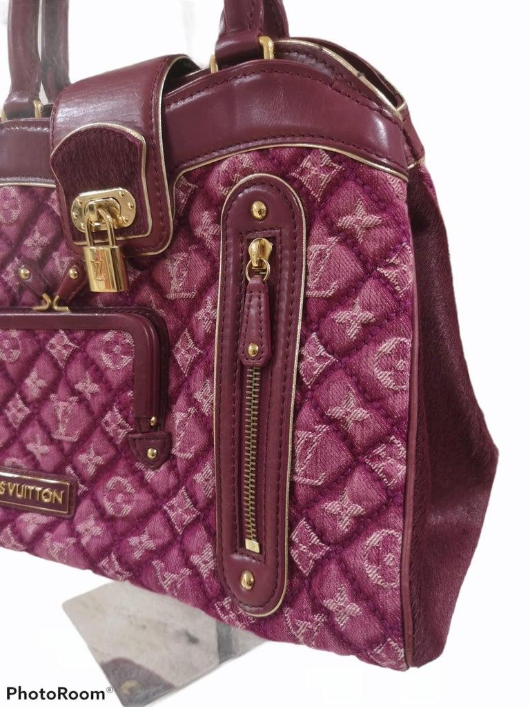 Louis Vuitton monogram denim fuchsia Linda Limited edizion bag In Excellent Condition For Sale In Capri, IT