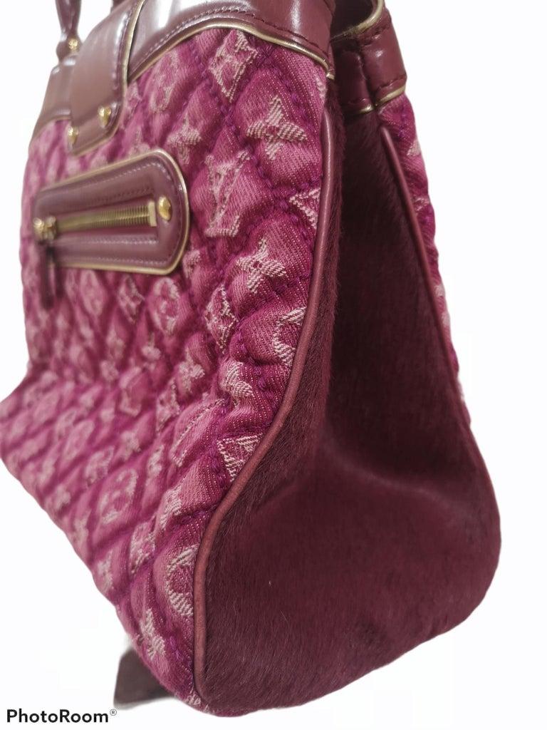 Louis Vuitton monogram denim fuchsia Linda Limited edizion bag For Sale 2